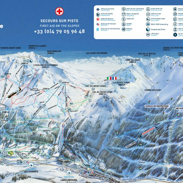 Ski map Val Cenis Your playground